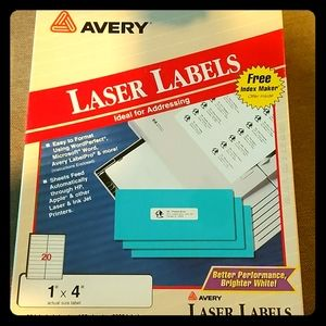 """Avery Laser Labels 1""""x4"""""""